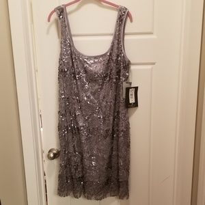 Sexy sequin and lace tank dress!